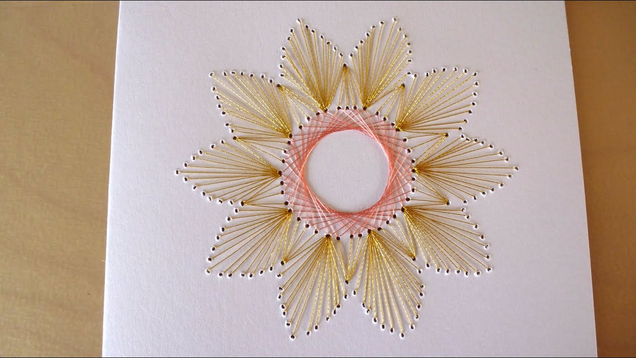 DIY Easy Flower Embroidery CardYouTube