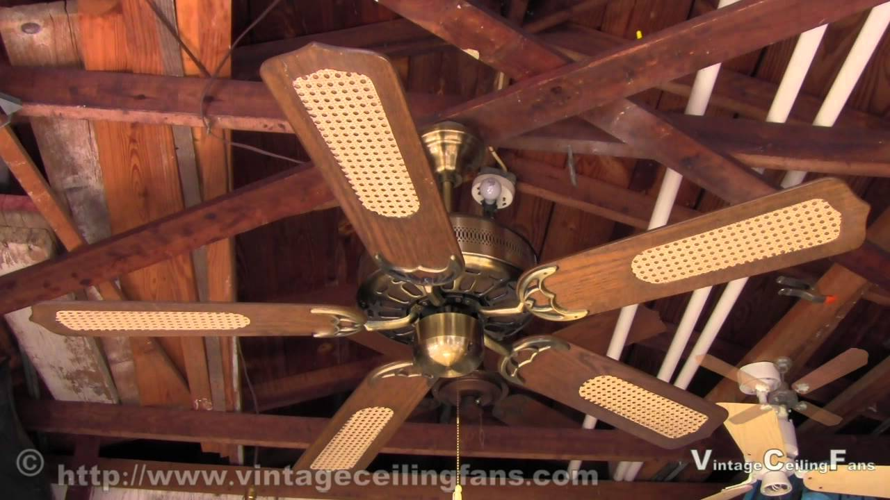 Early 1980s Five Blade GE Vent Ceiling Fan
