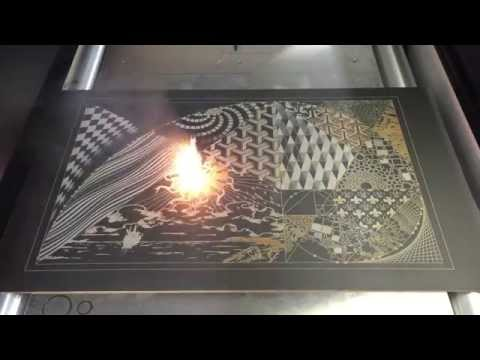 After Sunset - Modern Laser Art