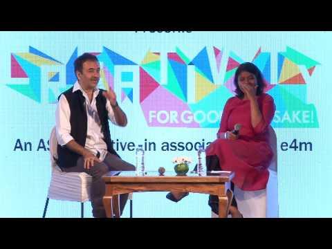 #ASCI Creativity for Goodness Sake : Rajkumar Hirani talks to Anuradha Sengupta on Censorship