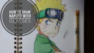 How to draw naruto child with glasses
