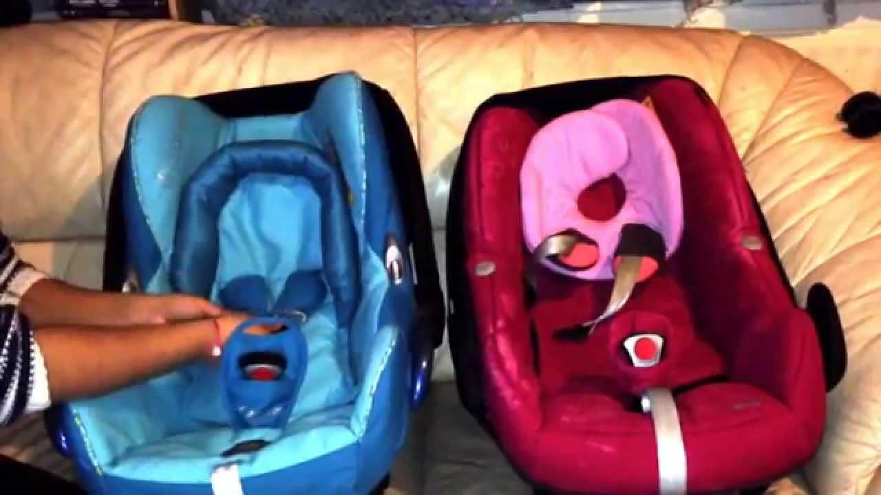 maxi cosi pebble vs maxi cosi cabriofix quick review youtube. Black Bedroom Furniture Sets. Home Design Ideas