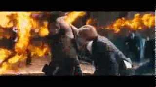 Я, Франкенштейн - отрывок огненной драки HD