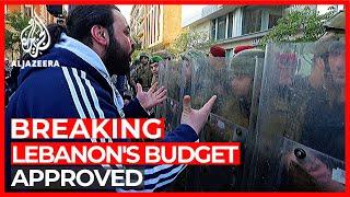 Lebanon passes 2020 budget despite protests