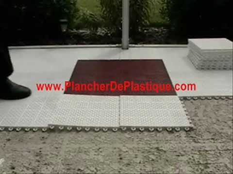 Plancher de plastique youtube for Plancher exterieur plastique