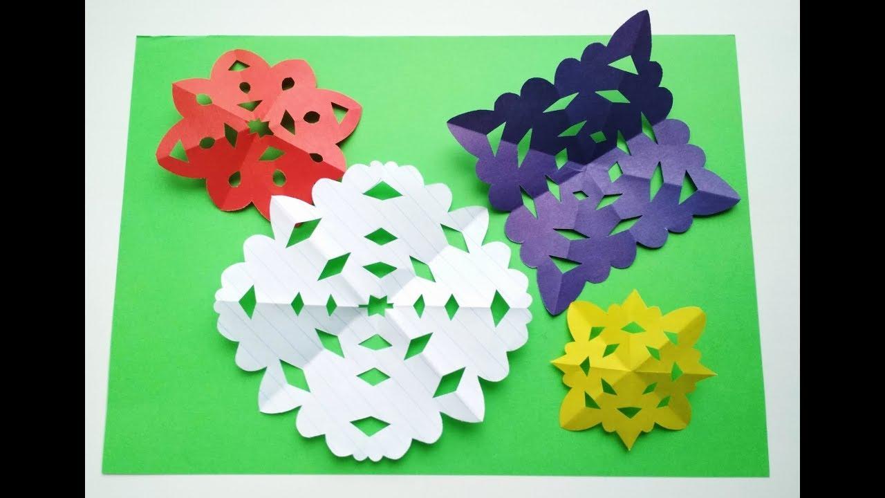 Сделать снежинки из бумаги своими руками: большие