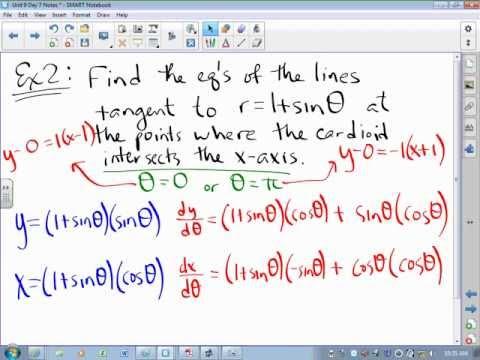 CA Calculus BC Video Lesson 9-7 Derivatives of Polar Curves