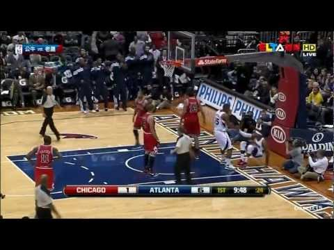 Josh Smith complete highlights 25 pts 6 blocks 4 steals vs Chicago Bulls 01/07/2012 HD