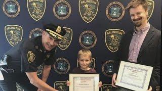 Boy, 6, Receives Outstanding Citizen