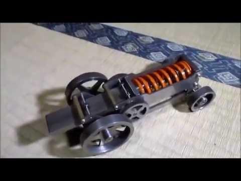 how to make a spring powered car