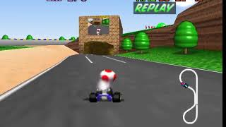 Mario Kart 64 N64 - Beating Luigi Staff Ghost No Glitches