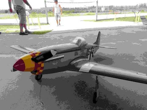Mustang P 51 By Top Flite With Electric Brushless Motor