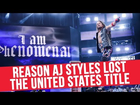Reason Why AJ Styles Lost The United States Title