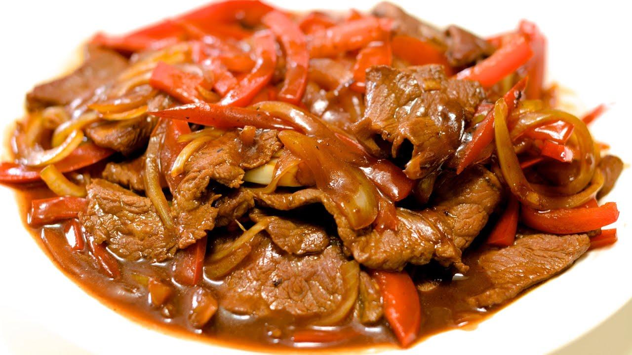 Pepper Steak In Brown Sauce Recipe Youtube