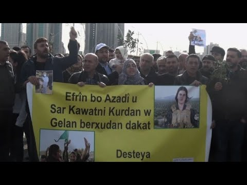 Syria, Iraq Kurds in Arbil hold protest Turkey Syria operation