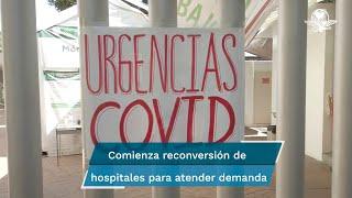 La tercera ola de contagios de Covid-19 empieza a saturar los hospitales por lo que se inició la reconversión de centros para atender la creciente demanda