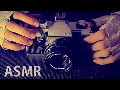 [ASMR] Old Film Camera Review (Clicking) - FRENCH Soft Spoken