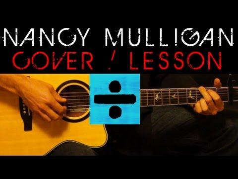 ➗ NANCY MULLIGAN - Ed Sheeran Cover 🎸 Easy Acoustic Guitar Tutorial / Lesson + Lyrics Chords Divide
