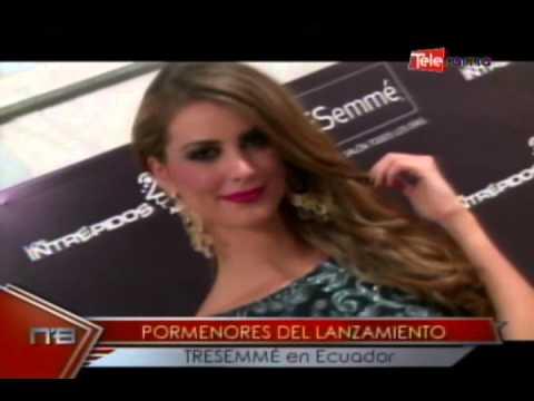 Pormenores del lanzamiento TRESEMMÉ en Ecuador