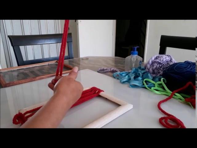 Como hacer un adorno en telar paso a paso……