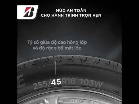 Hướng dẫn đọc ký hiệu lốp xe oto hãng Bridgestone