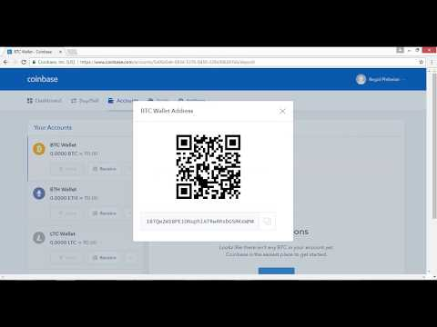 Coinbase - How to Find your Bitcoin wallet address