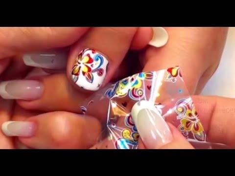 Цветная фольга для ногтей