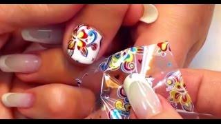 видео фольга для ногтей как использовать