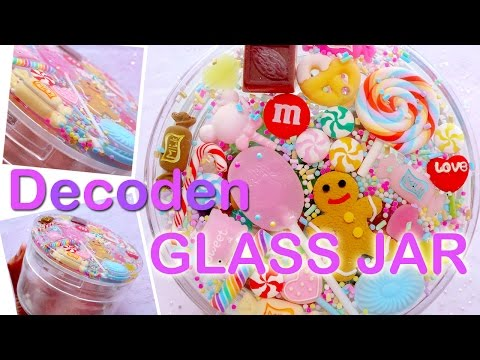 Kawaii Decoden on Glass Jar with Sweets Cabochons & Epoxy Resin (Home Decoration)
