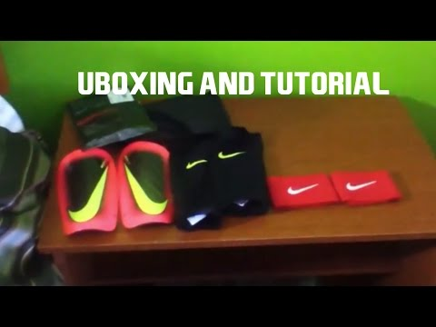 Unboxing Nike Shin guards and stays + How To Put Them On