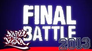 BOTY 2013 FINAL - FUSION MC (KOREA) VS THE RUGGEDS (NETHERLANDS) [BOTY TV]