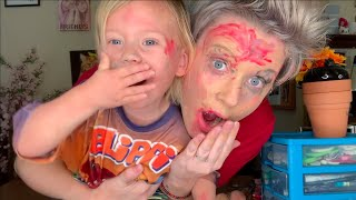 2 year old does my makeup