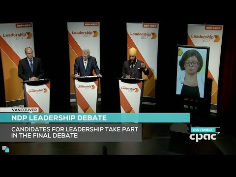 Final Debate of the 2017 Federal NDP Leadership Contest - Vancouver, 10 Sep 2017