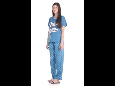 Intima by Westside Blue Printed Pyjama Set