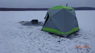 видео Зимняя палатка для рыбалки Lotos-3Т Универсал