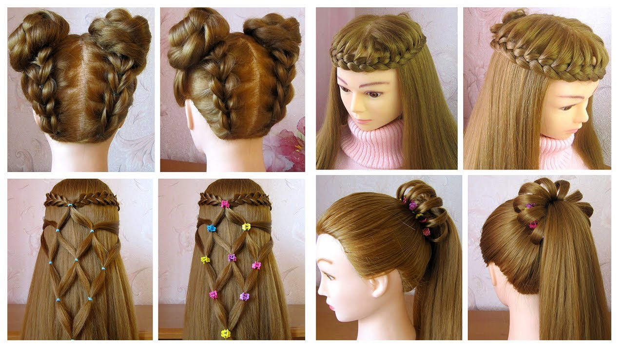 easy and beautiful hairstyles for girls ❤️ coiffures pour les petites  filles ❤️ facile à faire