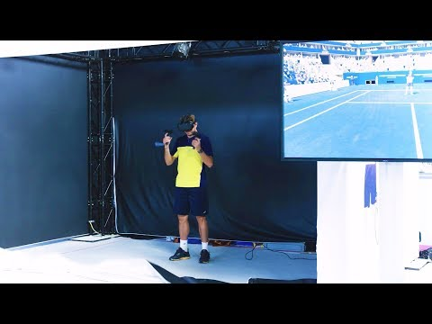 "Stan Wawrinka plays ""First Person Tennis - The Real Tennis Simulator"" (Zurich 29/07/17)"