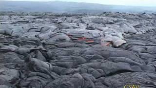CSAV Hawaii: Time Lapse Lava Flows, October 2009