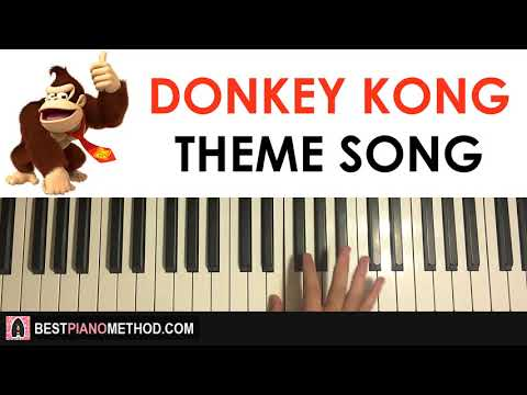 HOW TO PLAY - Donkey Kong Theme Song (Piano Tutorial Lesson)