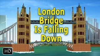 London Bridge Is Falling Down Nursery Rhymes with Lyrics | Popular Baby Songs