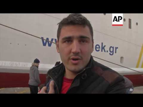 Migrants in Lesbos port worried about future