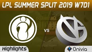 IG vs VG Highlights Game 3 LPL Summer 2019 W7D1 Invictus Gaming vs Vici Gaming LPL Highlights by Oni