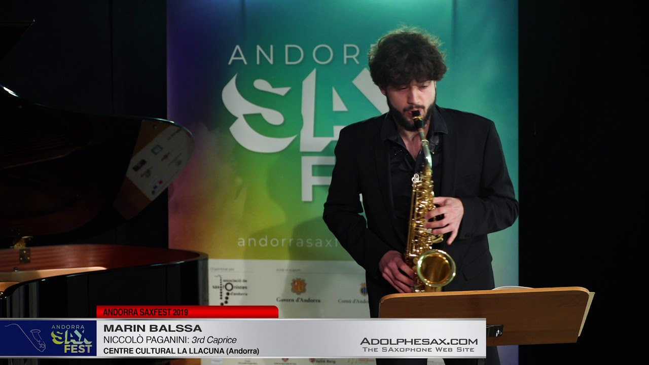 Andorra SaxFest 2019 1st Round   Marin Balssa   3rd Caprice by Niccolo Paganini