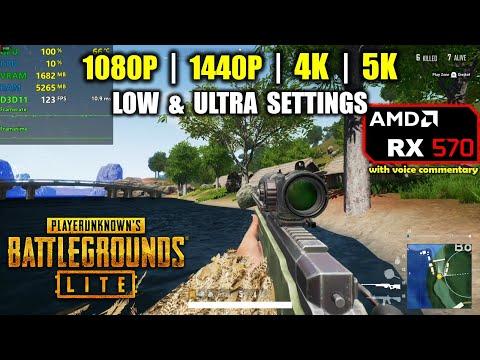 RX 570   PUBG Lite - 1080p, 1440p, 4K & 5K