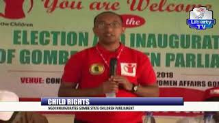 Child Rights: NGO Inaugurates Gombe State Children Parliament
