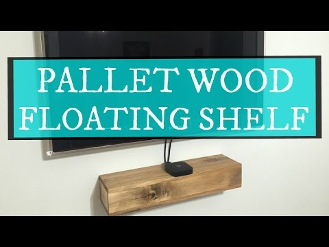 JWF- PALLET WOOD FLOATING SHELF