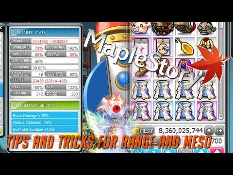MAPLESTORY: Tips And Tricks On Increasing Range And Making Mesos!