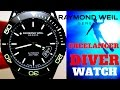 (4K) RAYMOND WEIL FREELANCER DIVER MEN'S WATCH REVIEW
