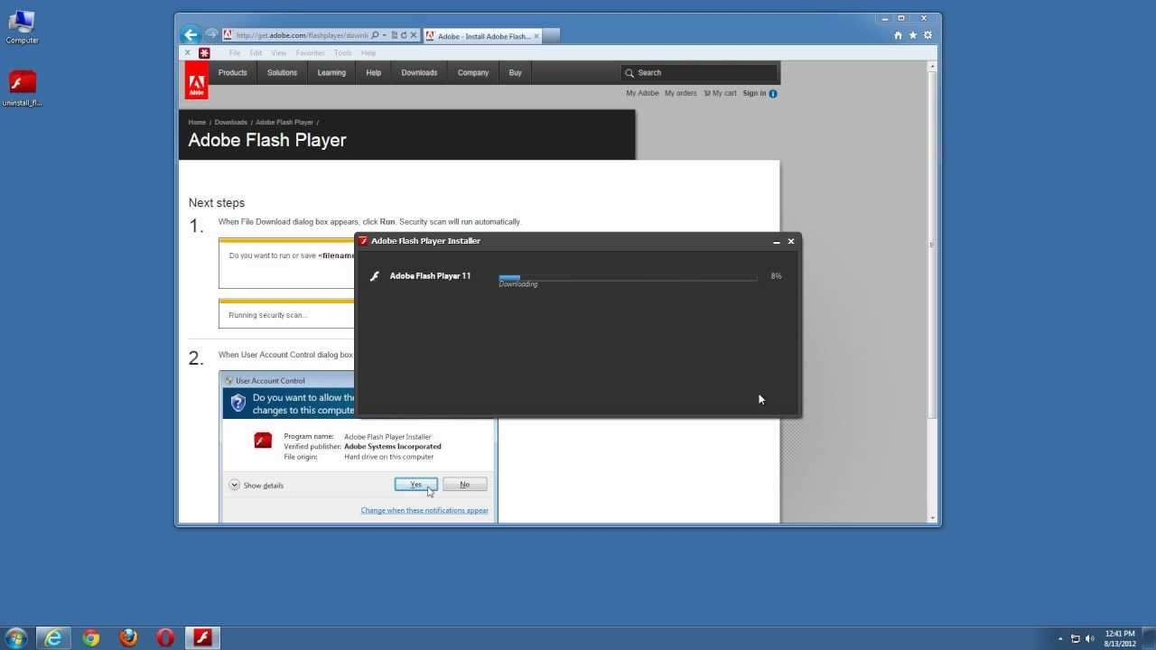 How do I do a clean install of Flash Player - W    | Adobe Community