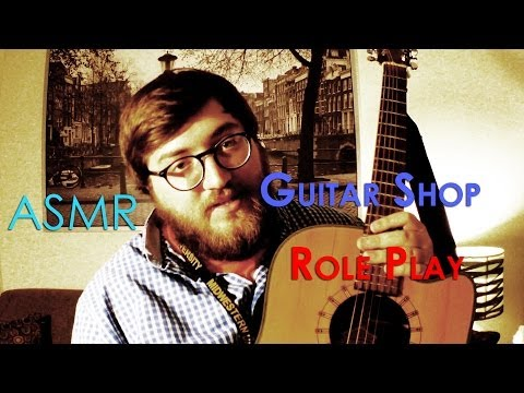 ASMR Guitar Store Role Play for relaxation